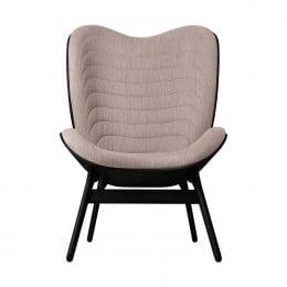 Кресло Umage A Conversation Piece, черный дуб, дымчато-розовый
