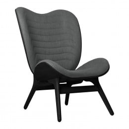 Кресло Umage A Conversation Piece, черный дуб, серый