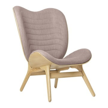 Кресло Umage A Conversation Piece, дуб, дымчато-розовый
