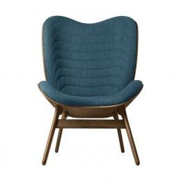 Кресло Umage A Conversation Piece, тёмный дуб, синий