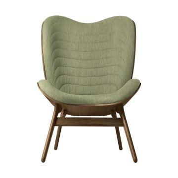Кресло Umage A Conversation Piece, тёмный дуб, зеленый