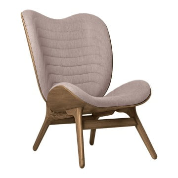 Кресло Umage A Conversation Piece, тёмный дуб, дымчато-розовая