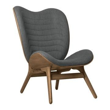 Кресло Umage A Conversation Piece, тёмный дуб, серый