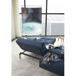 Диван-кровать Innovation Living Ample Styletto тёмный дуб, синий