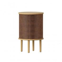 Тумба Umage Audacious Side table, дуб, коричневая экокожа
