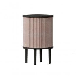 Тумба Umage Audacious Side table, чёрный дуб, дымчато-розовая