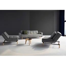 Диван-кровать Innovation Living Dublexo Frej дуб, серый