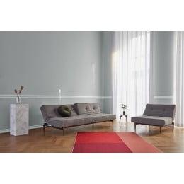 Диван-кровать Innovation Living Splitback Frej дуб, тёмно-серый