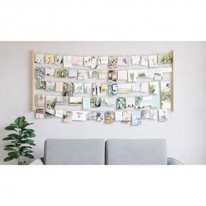Панно с зажимами для 80 фотографий Hangit дерево