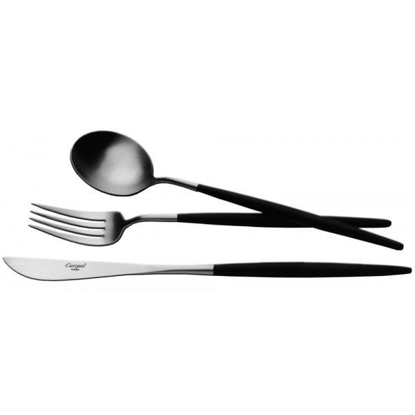 Набор столовых приборов CUTIPOL 130 предметов для 12 человек матово-чёрный