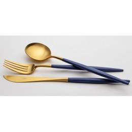 Набор столовых приборов CUTIPOL 75 предметов сине-золотой
