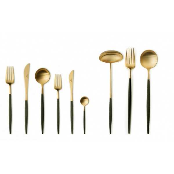 Набор столовых приборов CUTIPOL 75 предметов коричнево-золотой