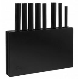 Набор ножей Cutipol 8 предметов в блоке для хранения чёрного цвета