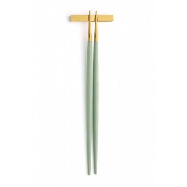 Набор палочек для еды CUTIPOL CHOPSTICKS 2 предмета мятно-золотые