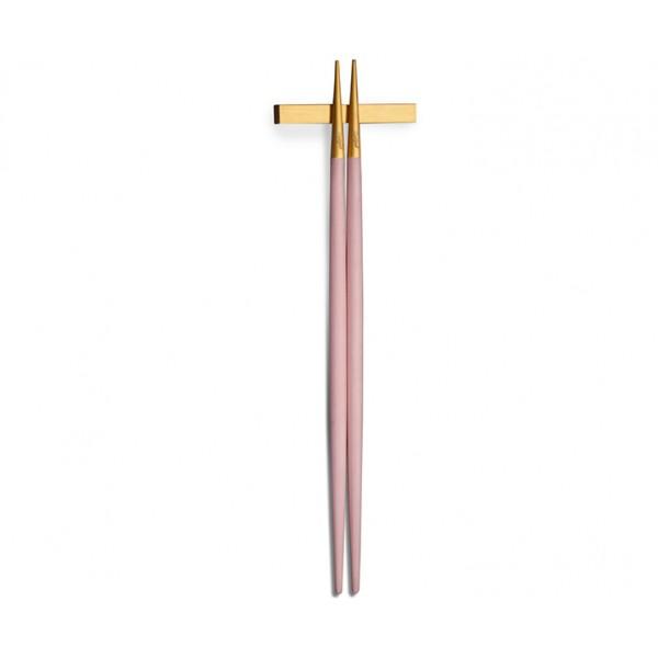 Набор палочек для еды CUTIPOL GOA PINK MATTE GOLD CHOPSTICKS 2 предмета