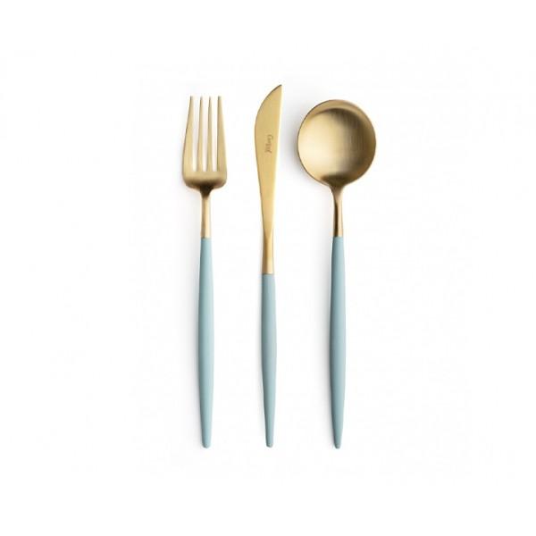 Набор столовых приборов CUTIPOL TURQUOISE PECAS GOLD 24 предмета в деревянном ящике