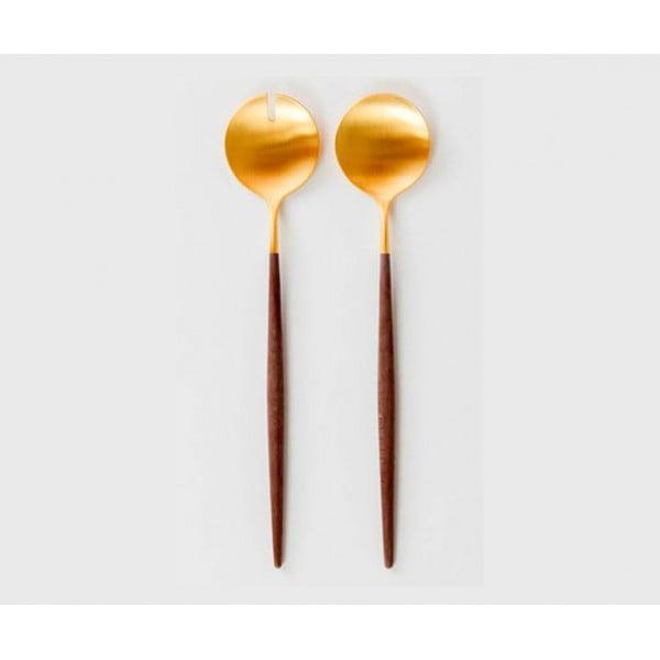Набор для сервировки салата CUTIPOL GOA SALAD SERVING SET 2 предмета коричнево-золотой