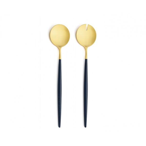 Набор для сервировки салата CUTIPOL GOA SALAD SERVING SET 2 предмета сине-золотой