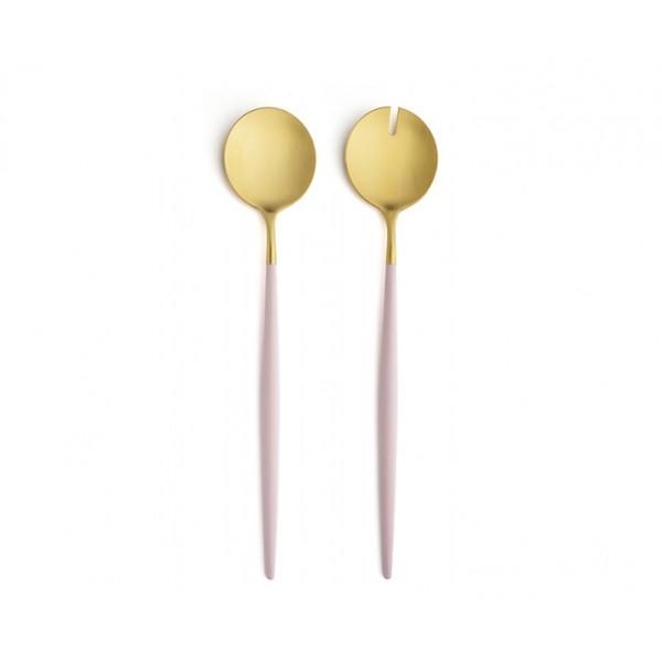 Набор для сервировки салата CUTIPOL GOA SALAD SERVING SET 2 предмета розово-золотой