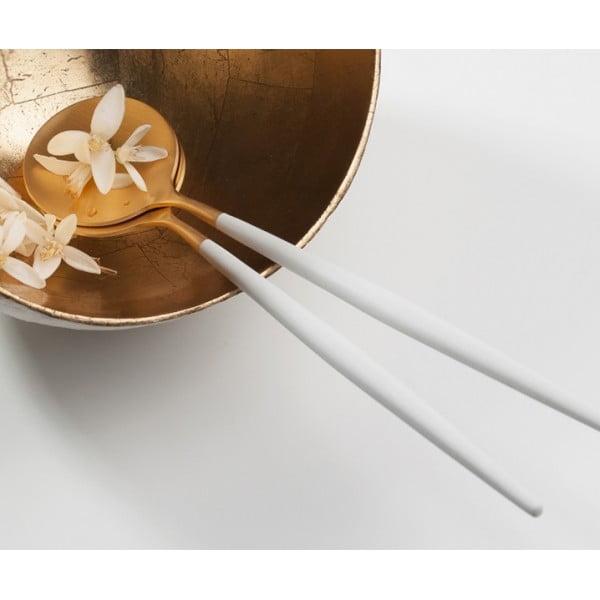 Набор для сервировки салата CUTIPOL GOA SALAD SERVING SET 2 предмета бело-золотой