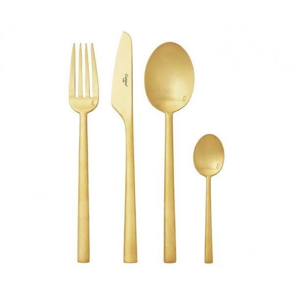 Набор столовых приборов CUTIPOL RONDO MATTE GOLD 24 предмета в деревянном ящике