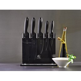 Набор из 6 ножей и подставки Viners Silhouette чёрный