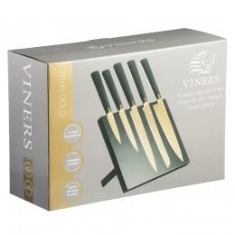 Набор из 5 ножей и подставки Viners Titan Gold