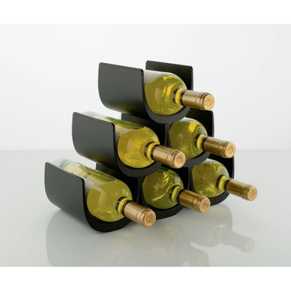 Подставка модульная для винных бутылок Noe черная