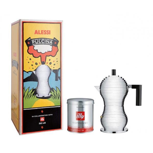 Кофеварка для эспрессо Pulcina черная 70 мл