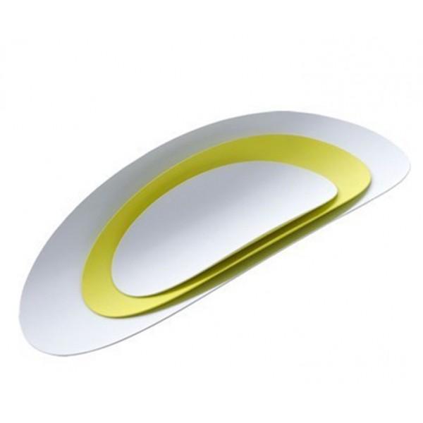 Набор из 3-х стальных блюд Ellipse желтый/белый