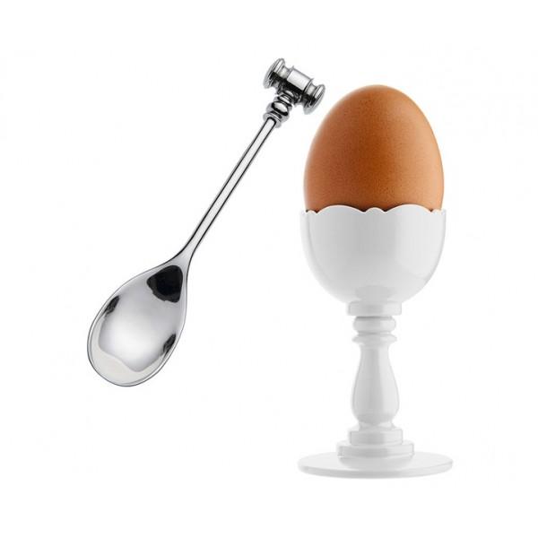 Подставка с ложкой для яйца Dressed белые