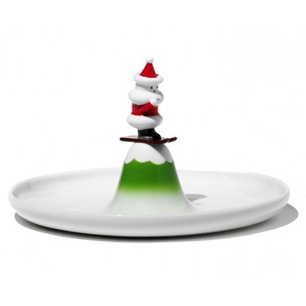 Блюдо Scia Natalino для печенья белое