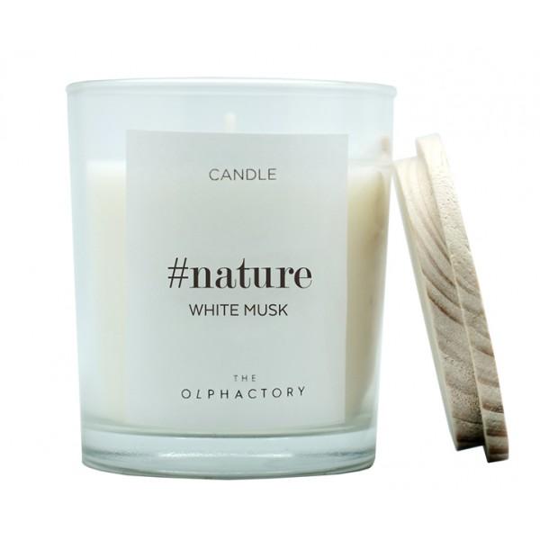 Свеча ароматическая NATURE Белый Мускус 30 ч