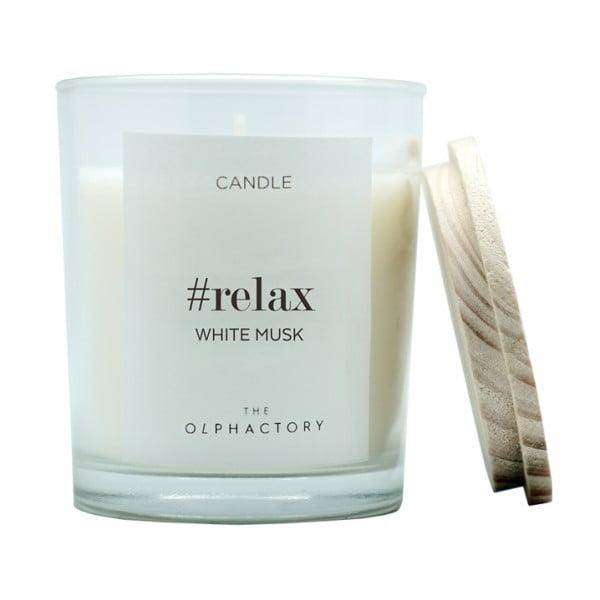 Свеча ароматическая RELAX Белый Мускус 30 ч