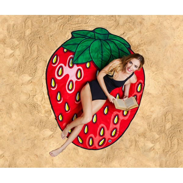 Покрывало пляжное Strawberry