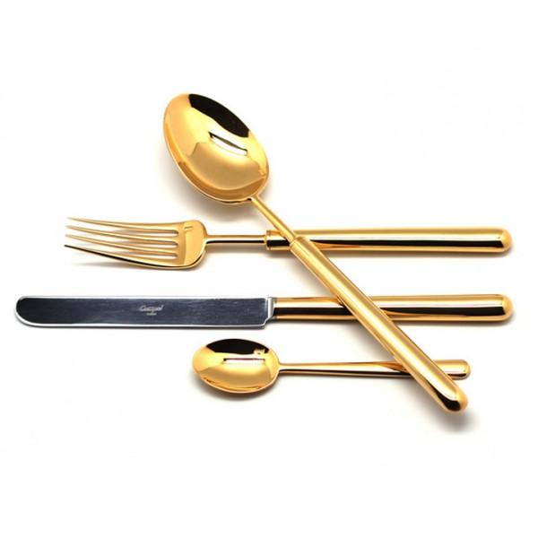 Набор столовых приборов CUTIPOL BALI GOLD 24 предмета полированный