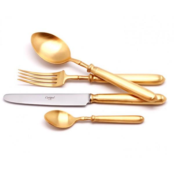 Набор столовых приборов CUTIPOL MITHOS GOLD матовый