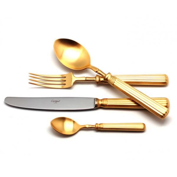 Набор столовых приборов CUTIPOL LINE GOLD матовый