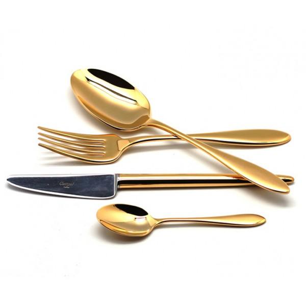 Набор столовых приборов CUTIPOL VAN DER ROHE GOLD 24 предмета полированный