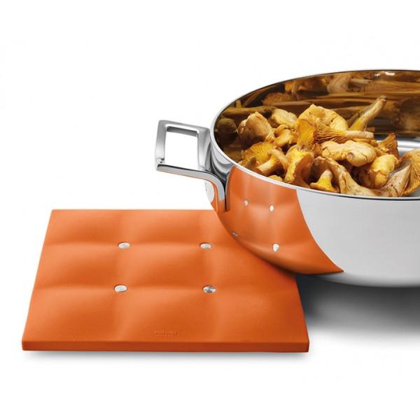 Силиконовая подставка под горячее Dish Mat оранжевая