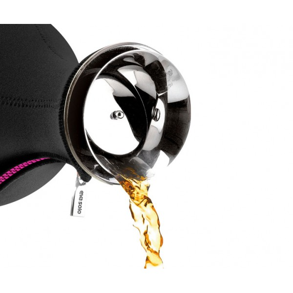 Чайник заварочный Tea Maker в неопреновом чехле 1 л черный/лайм