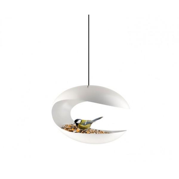 Кормушка-стол для птицподвесная белая