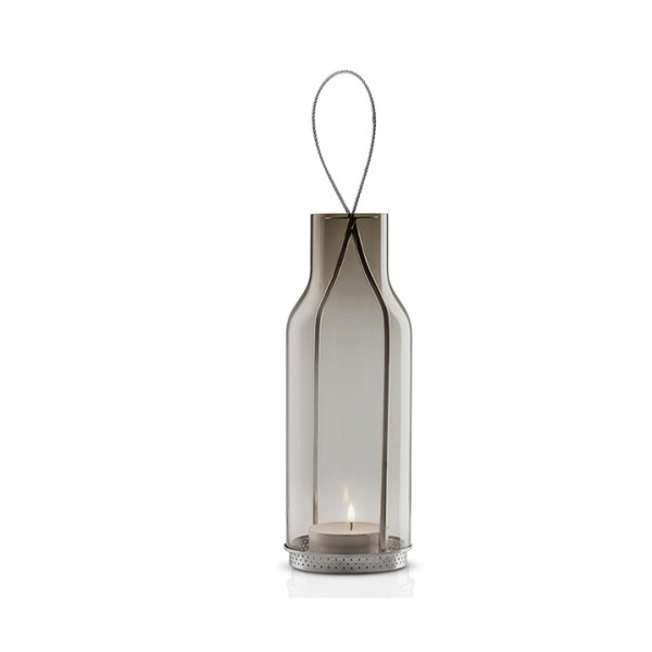 Подсвечник подвесной 20 см дымчатое стекло