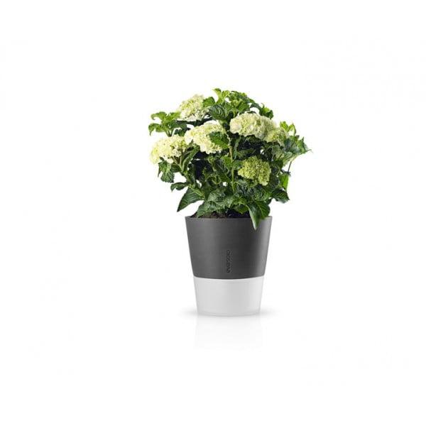 Горшок с функцией естественного полива Flowerpot 25 см серый