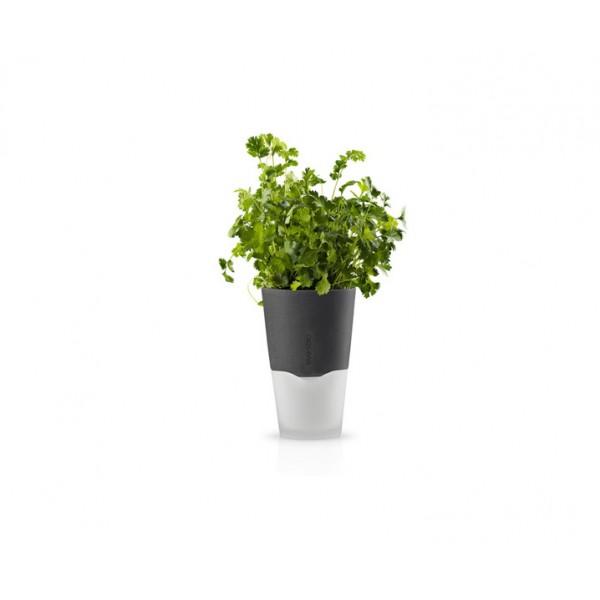 Горшок с функцией естественного полива Herb Pot 11 см серый