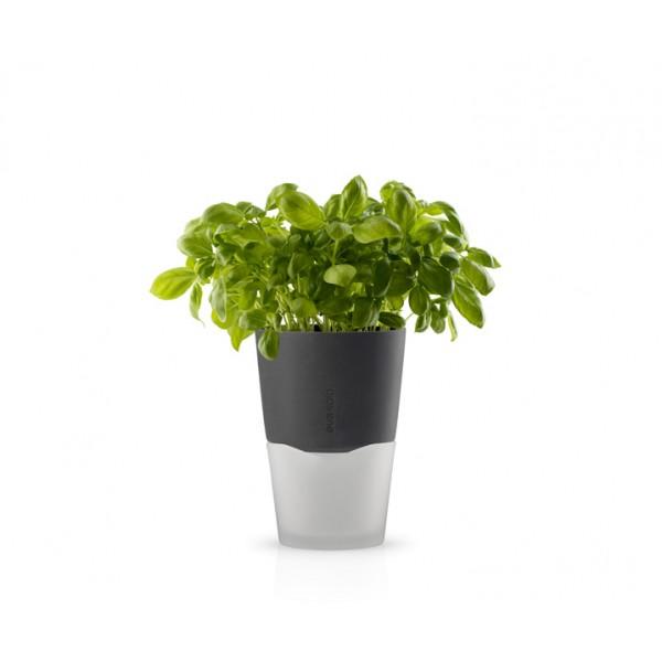 Горшок с функцией естественного полива 13 см серый
