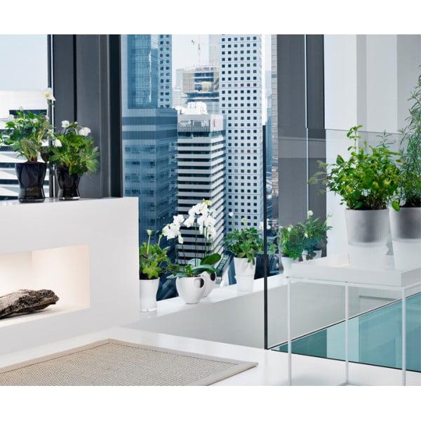Горшок с функцией естественного полива Herb Pot 13 см матовое стекло