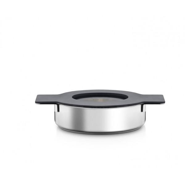 Сотейник с крышкой Gravity 24 см серый