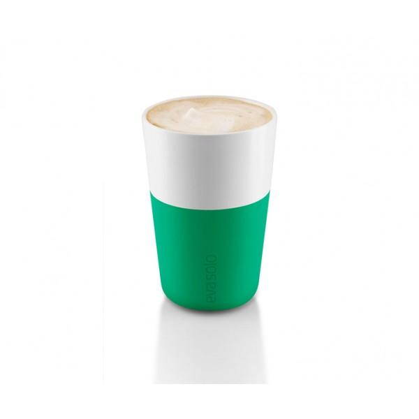 Набор чашек Latte 360 мл ярко-зеленый/белый