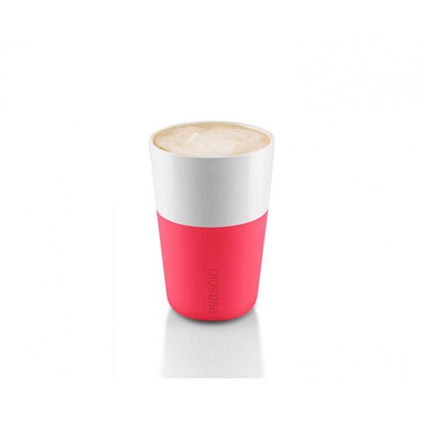 Набор чашек Latte 360 мл розовый/белый